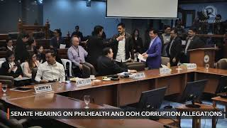 Senate hearing on Philhealth, DOH corruption allegations