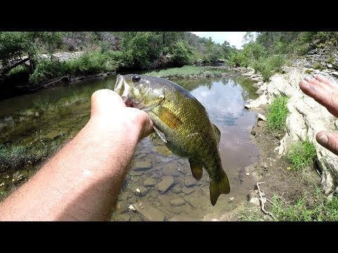 Creek Fishing With Worms