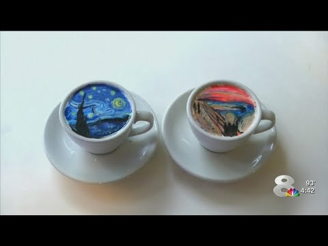 Korean barista creates coffee art that is 'too beautiful to sip'