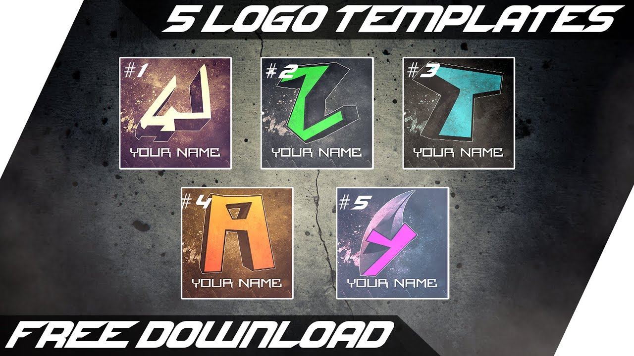 5 youtube logo templates free psd download youtube