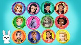 Disney Jr Princess Sofia the First Playdoh Toy Surprises | Ferfertoys