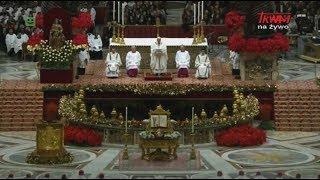 Homilia Papieża Franciszka wygłoszona podczas uroczystej Mszy Świętej Wigilii Narodzenia Pańskiego