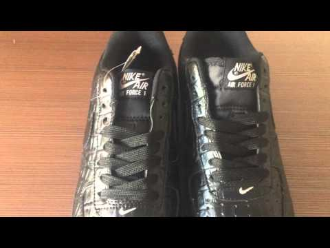 Nike Air Force 1 Black Croc Released YT