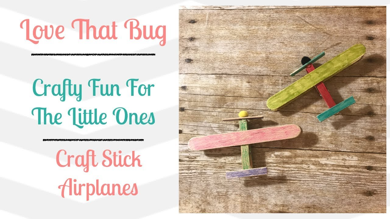 Download Toddler Tuesday | Craft Stick Airplanes
