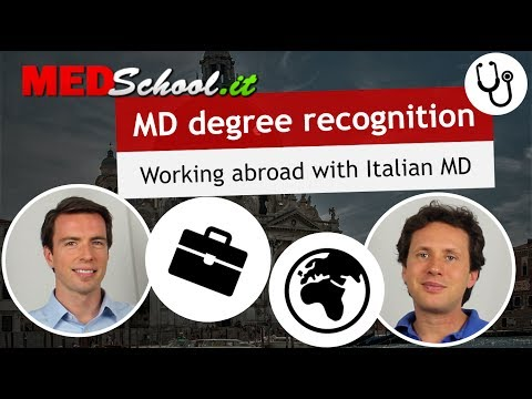 Where can you work with your degree? - English Med Schools in Italy with Erik Campano and Alex O.