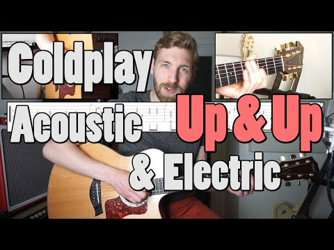 Coldplay - Up & Up | Guitar Cover & Tutorial | Acoustic & Electric | Solo tab