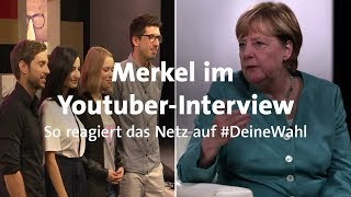 #DeineWahl: Reaktionen auf Merkels Youtube-Interview