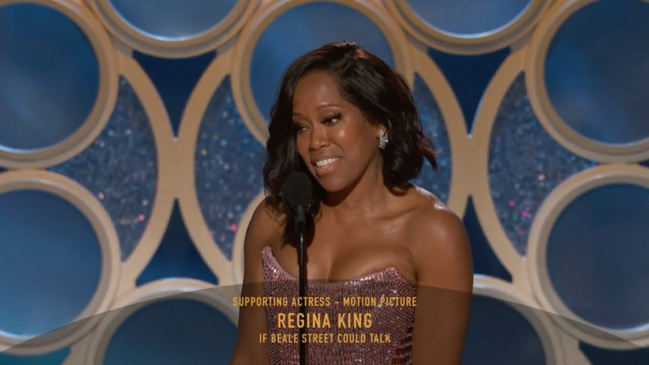 Hd Regina King Wins Best Supporting Actress 2019 Golden Globes Youtube