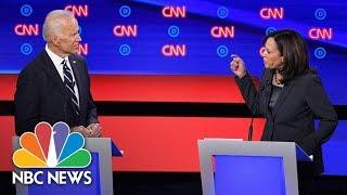 Harris, Biden, Have Heated Exchange On Health Care | NBC News