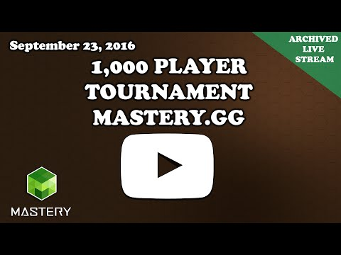 [Archived Live Stream] Clash Royale | 1000 Player Tournament Sponsored by Mastery.gg