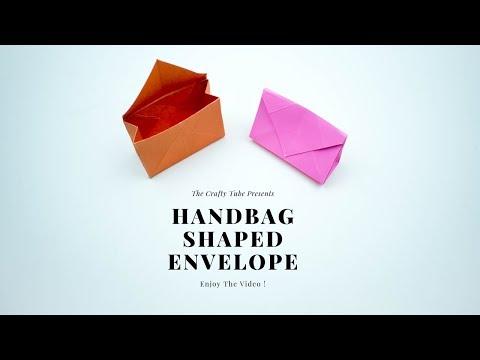 Paper Handbag Shaped Envelope - Paper Craft - DIY