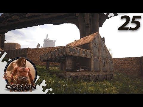 CONAN EXILES: THE FROZEN NORTH - Cartpenter Build! - EP25