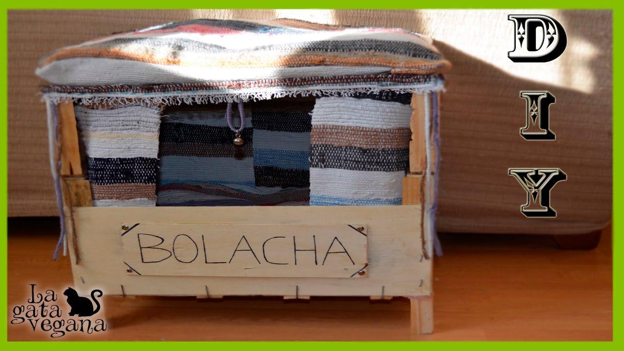 Diy gatos caseta r stica reciclada para exterior con cajas de madera hazlo t mismo youtube - Casas para gatos baratas ...