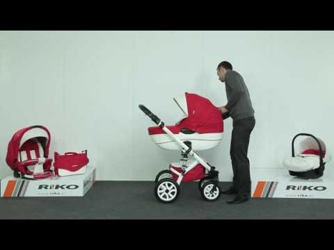 Детская модульная коляска Riko Brano Ecco 3 в 1