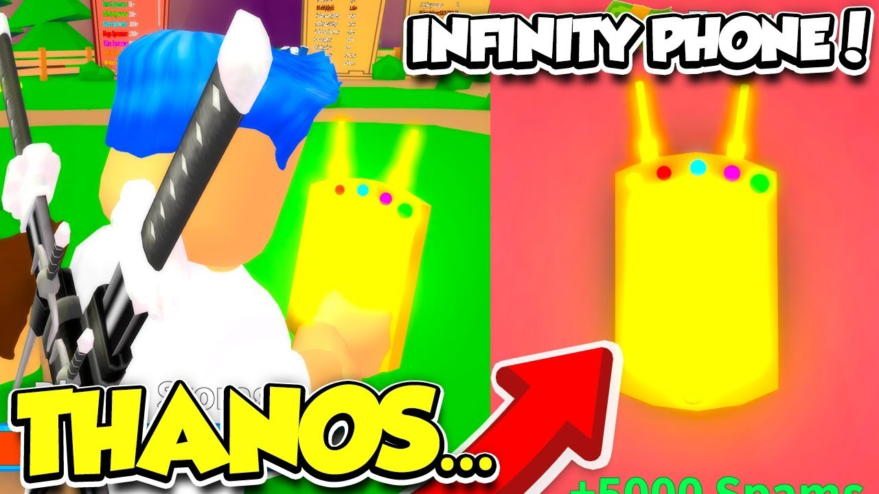 I Got The Infinity Phone In Spamming Simulator Thanos Phone
