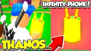 I Got The INFINITY PHONE In SPAMMING SIMULATOR!! *THANOS PHONE* (Roblox)
