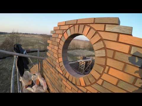 Как сделать круглое окно из кирпича