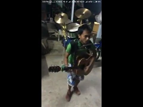 A multi talented guy | An incredible guy playing multiple musical instruments and singing.