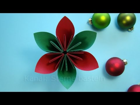 basteln weihnachten weihnachtsdeko basteln mit papier weihnachtsbasteln diy ideen youtube. Black Bedroom Furniture Sets. Home Design Ideas