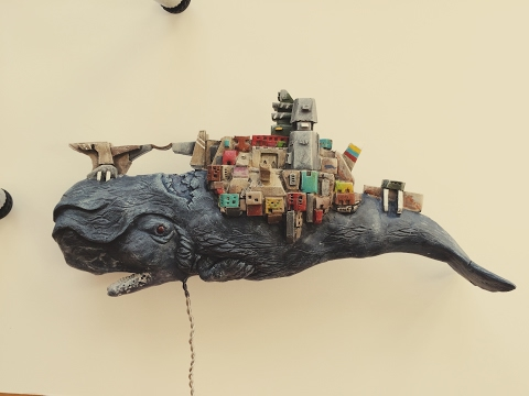 How I made my fantasy Whale City! ( Clay Sculpting Project )