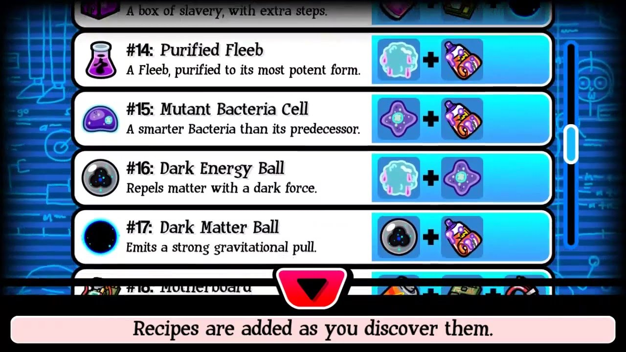 Pocket mortys all 30 crafting recipes youtube for Rick and morty craft list