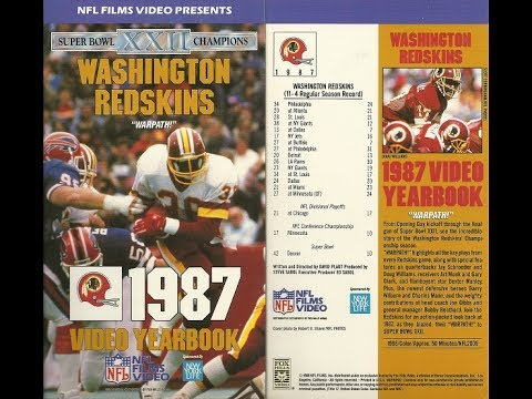Washington Redskins Warpath! 1987 Video Yearbook