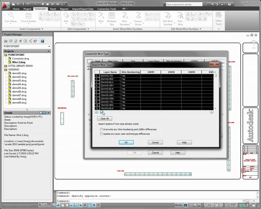 AutoCAD Electrical 2011 Wire Diagram Productivity  YouTube