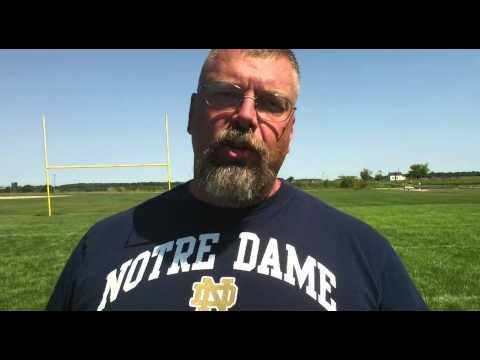 Tippecanoe Valley High School football coach Jeff Shriver
