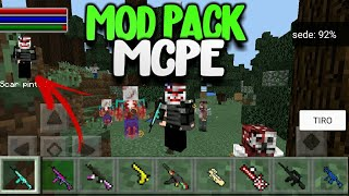 MODPACK DO THE WALKING DEAD PARA MINECRAFT PE! MOD PACK PARA MINECRAFT POCKET EDITION (MCPE)