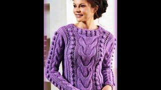 Женский Джемпер-Свитер Спицами - 2019 / Female Cardigan Sweater-spokes /Strickjacke-Speichen