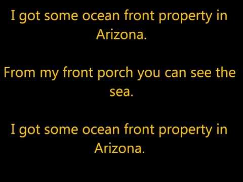 George Strait - Ocean Front Property *Lyrics*