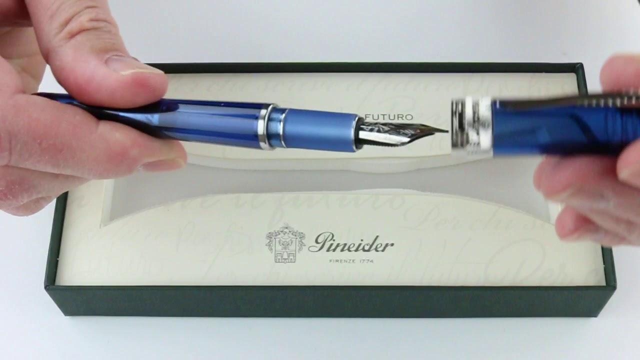 Pineider Avatar UR Amber Demo Rollerball Pen New In Box Made In Italy