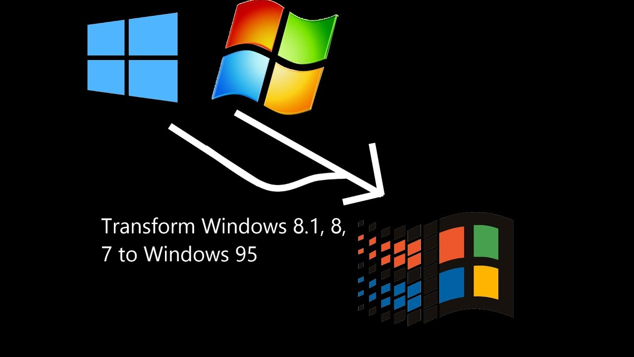 How to Transform Windows 8/8 1/10 to Windows 95