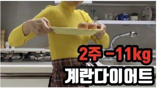 Eng) 2주 동안 -11kg 감량 계란다이어트 방법 …