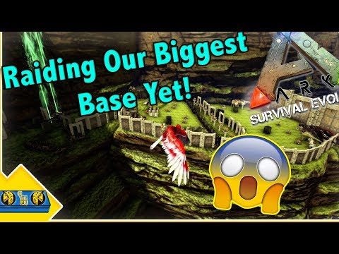 This Is The Biggest Base Ive Raided So Far!  Small Tribe Servers PvP Ep 22! Ark Survival Evolved!