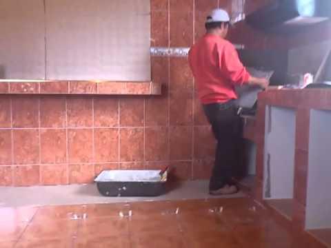 Cocina azulejo ruben castro youtube for Figuras en drywall para cocinas