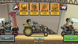 Hill Climb Racing 2 - New Vehicle TRACTOR Fully Upgraded 🚜