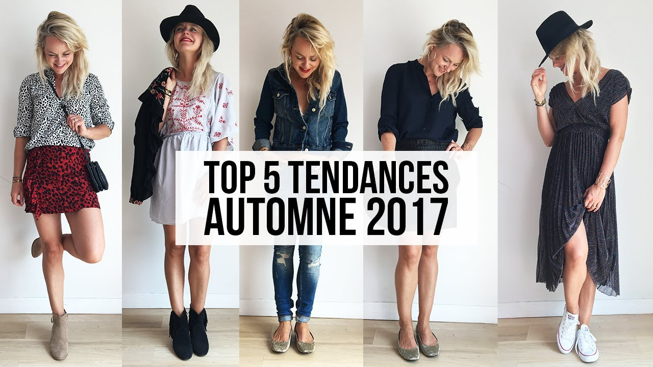 top 5 des tendances automne 2017 look book rentr e 2017 et 5 looks youtube. Black Bedroom Furniture Sets. Home Design Ideas