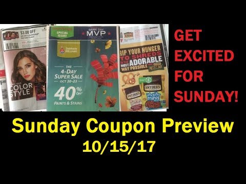 AMAZING Sunday Coupon Preview 10/15/17