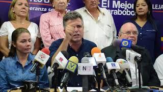 Feo la cruz reconoció a Rafael Lacava como gobernador de Carabobo