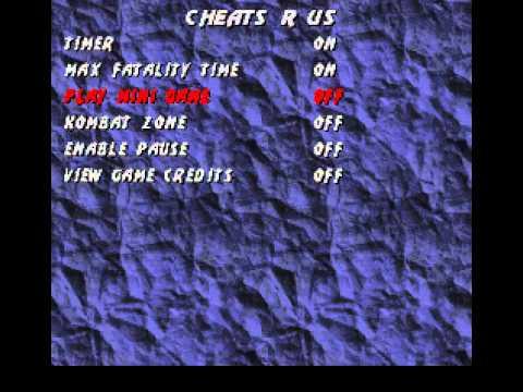 <b>Mortal Kombat</b> 3 <b>Cheat Codes</b> Menu - YouTube