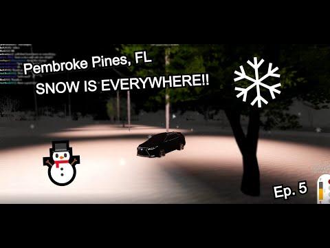 WE GOT HIT BY A BLIZZARD IN NOVEMBER?? Pembroke Pines, FL (ROBLOX)