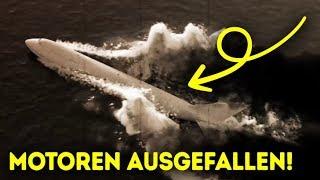Ein Flugzeug hätte das Stadtzentrum zerstören können, aber landete auf einem Fluss