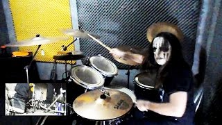 Slipknot - Vermillion Part 1 Drum Cover drum play-through With Joey Jordison Mask By Jordan