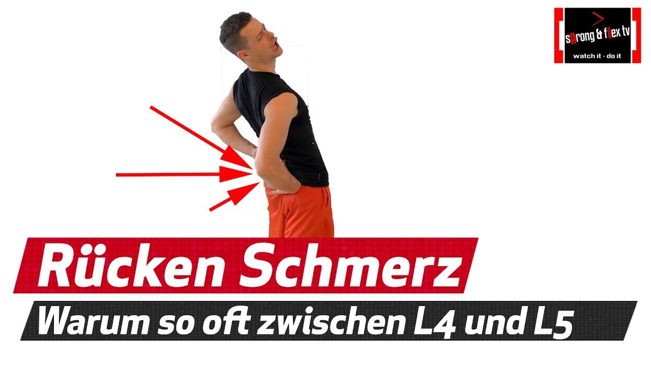 Rückenmschmerzen - Warum meistens zwischen L4 und L5 - YouTube