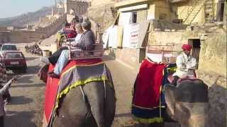 Elephant Ride at Amber Fort, Jaipur, India