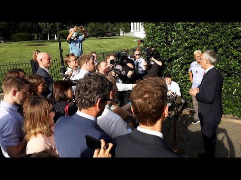 NATO Secretary General meeting with press outside the White House on meeting POTUS 🇺🇸, 07 JUN 2021