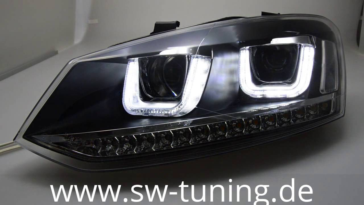 Sw Light Scheinwerfer Black Für Vw Polo V 6r 10 13 Led U Standlicht Tuning You