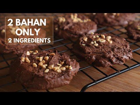 resepi-biskut-coklat-rangup-|-2-bahan-|-cuba-buat-dan-hasilnya-wow-|-2-ingredients-chocolate-cookies