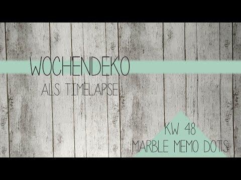 FILOFAX DEKO KW 48   marble memo dots   timelapse
